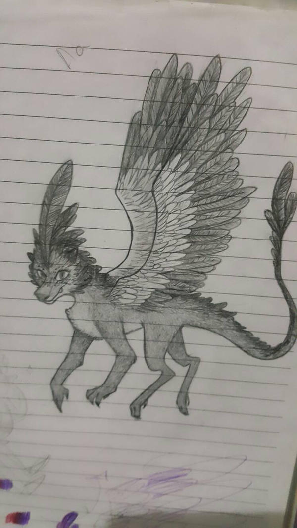 Feathery dragon by MarieManiacMagic