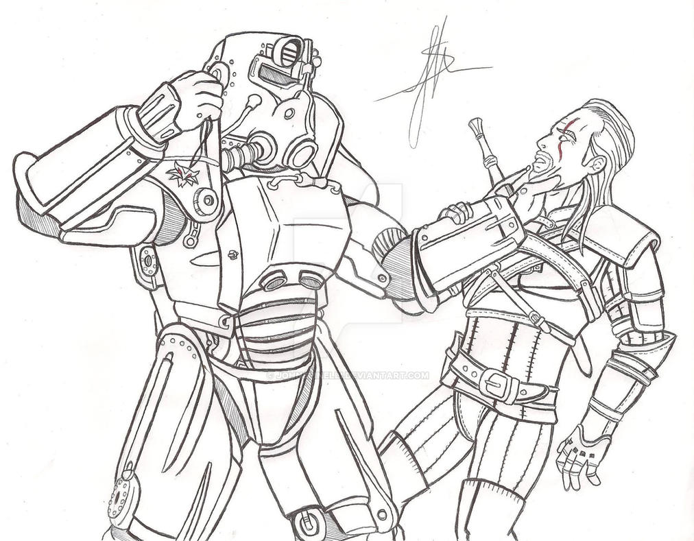 Fallout 4 coloring pages sketch coloring page for 4 coloring pages