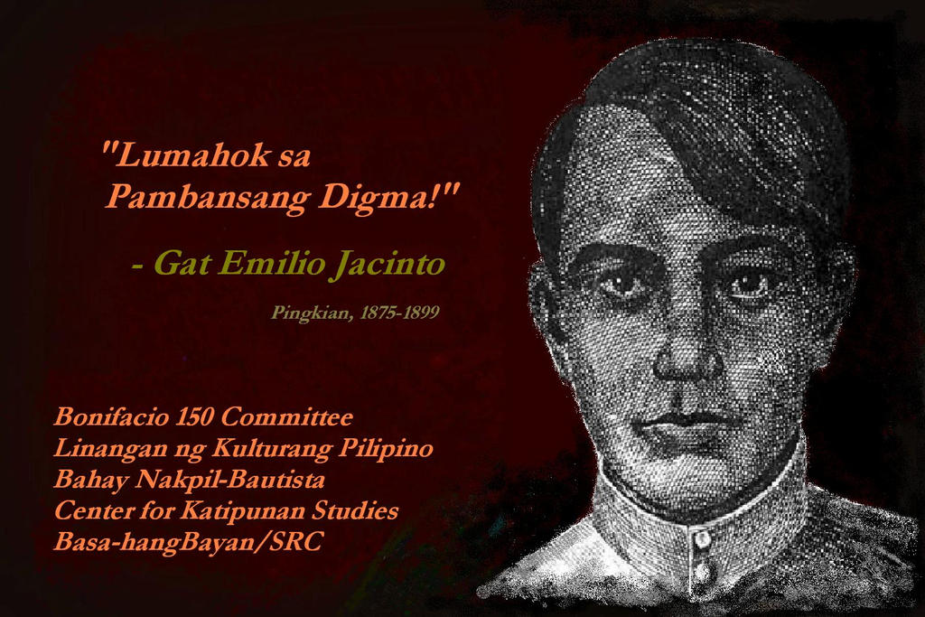 poems of emilio jacinto This site is dedicated to the study of the katipunan, the patriotic secret society that in 1896 launched the revolution against spanish rule in the philippines although the late 19th century is the most celebrated and studied period in philippine history, much of what has been published on the katipunan is unreliable and the surviving primary sources are as yet largely unexplored.