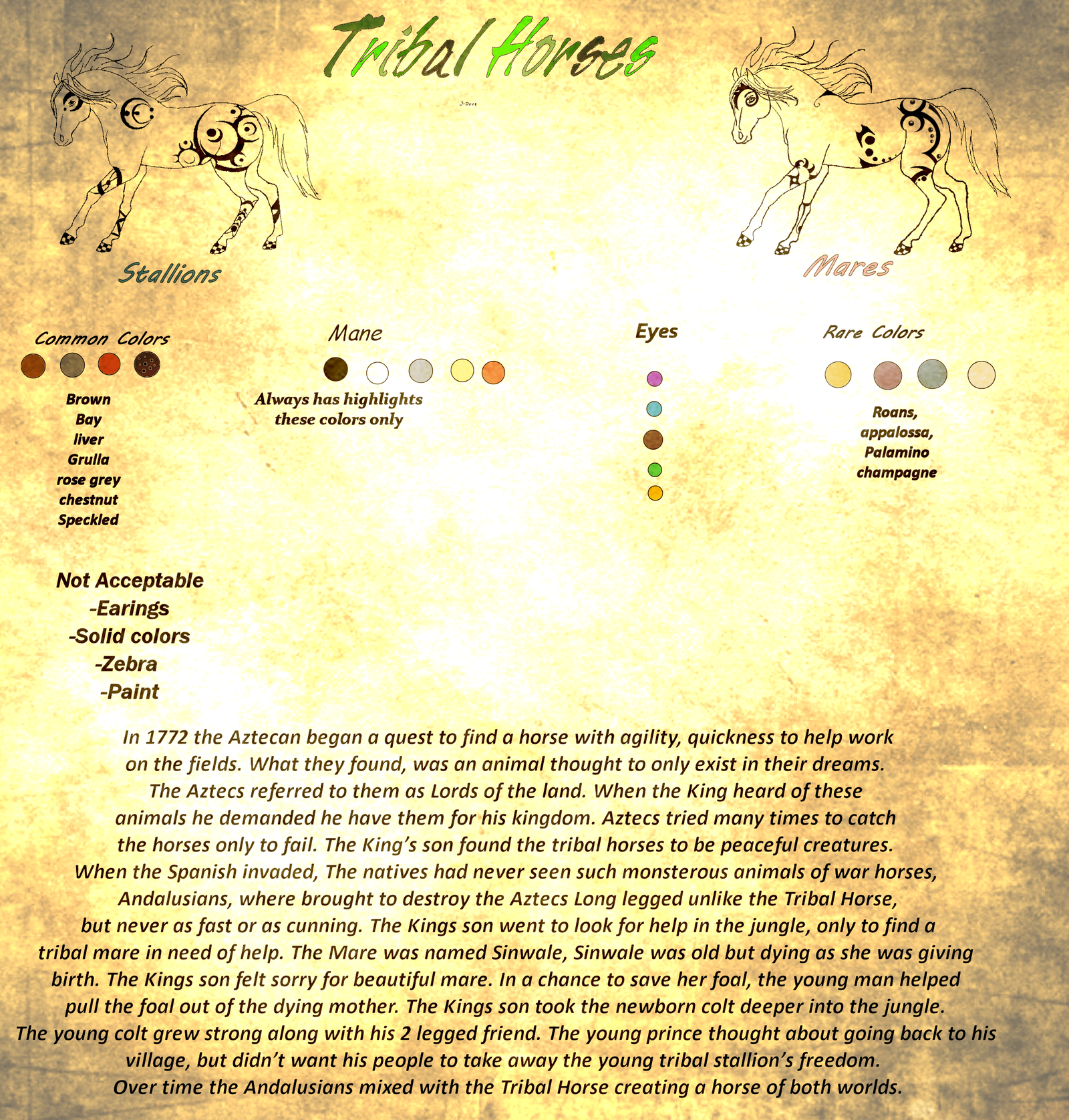 Tribal Horse Breed Sheet by J-Dove