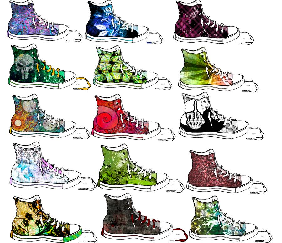 Converse shoe drawing design