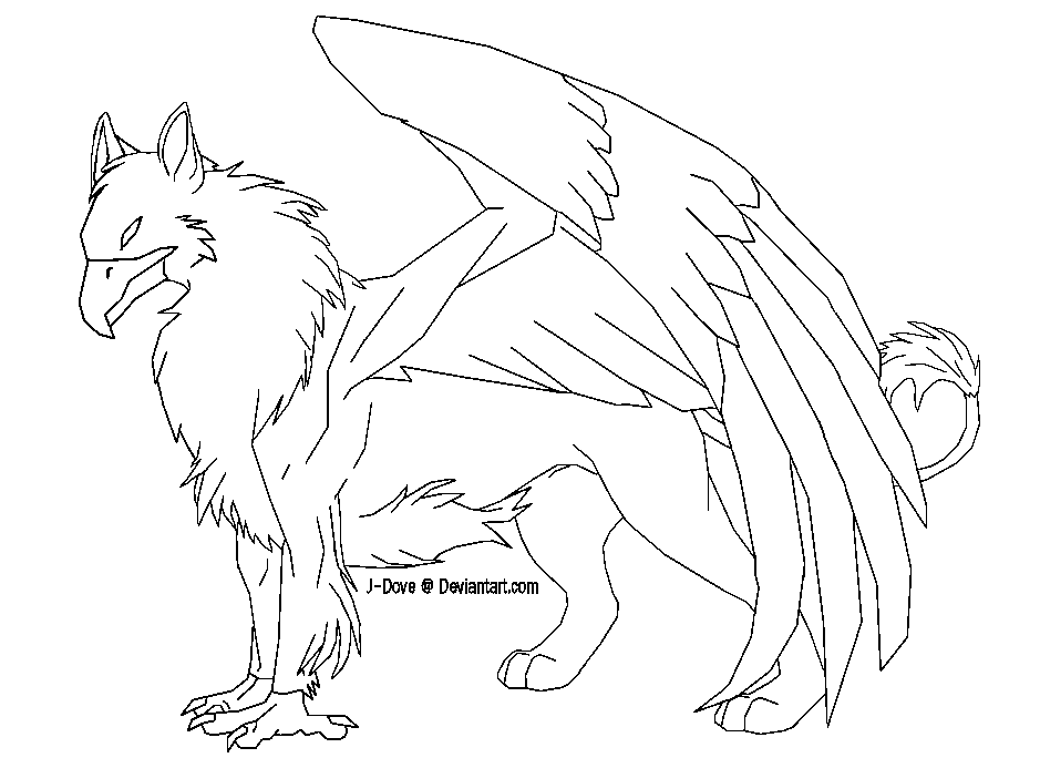 Mythical Griffin Pages Coloring Pages
