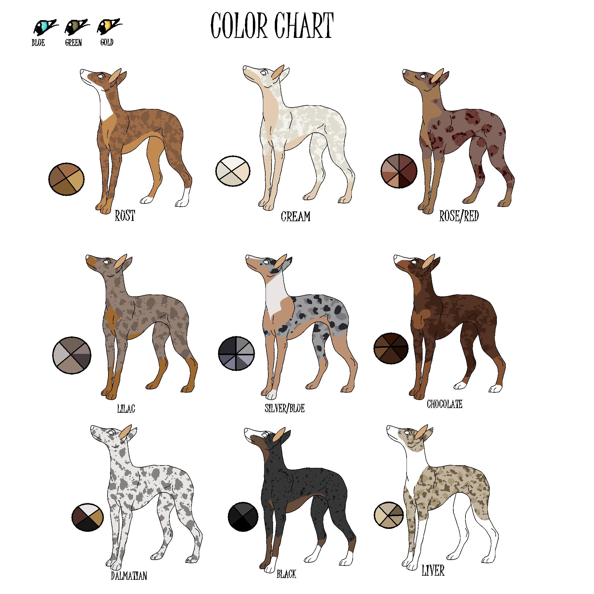 Louisiana pharaoh color chart by J-Dove on DeviantArt
