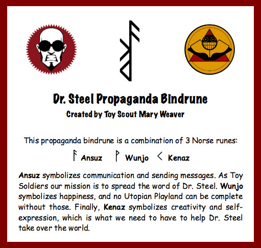 Dr. Steel Propaganda Bindrune by Merytsetesh