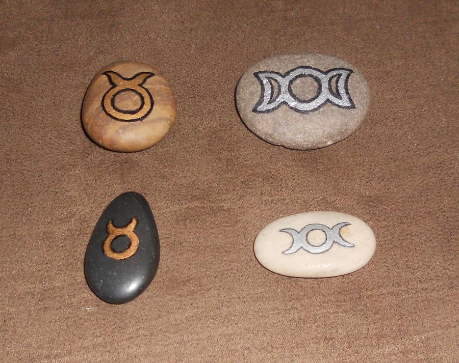 Stone God And Goddess Symbols By Merytsetesh On Deviantart