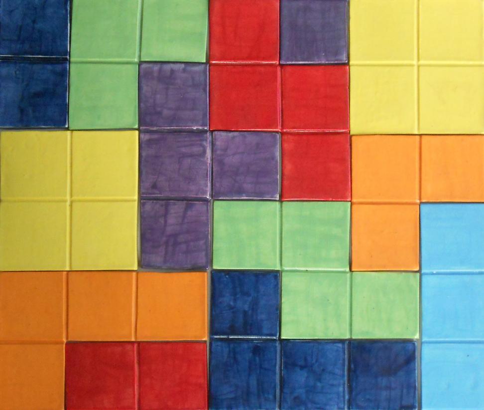 Tetris Tiles Close Up by Merytsetesh