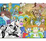 Collage de 2015 para un taller de dibujo