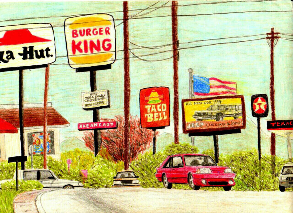 Fast Food Restaurants In The 90s By Thefreshknight On