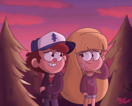 Dipper And Pacifica Summer Evening