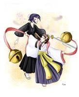 Bleach: Hinamori and Tobiume by Ange-Ninette