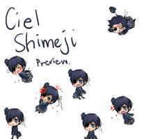 Shimeji - Preview: Ciel by fireflares