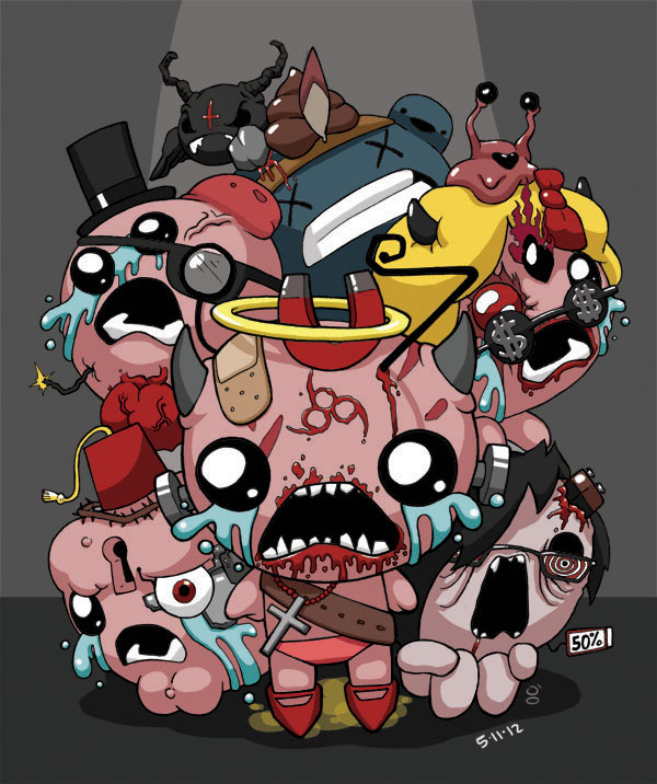 The Binding Of Isaac By Blckwht On DeviantArt