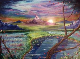 Mountain Landscape~ by unspoken411