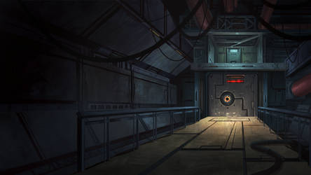 Factory Entrance - Cardinal Cross Visual Novel BG by N8watcher