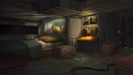 Pirate Room - Cardinal Cross Visual Novel BG by N8watcher