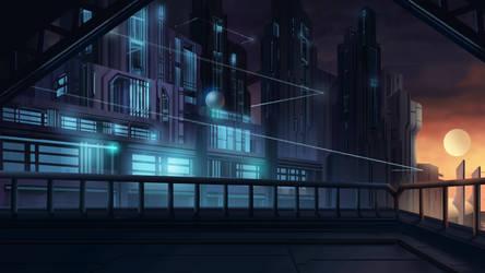 Huge City - Cardinal Cross Visual Novel BG