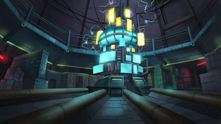 Computer Room - Cardinal Cross Visual Novel BG