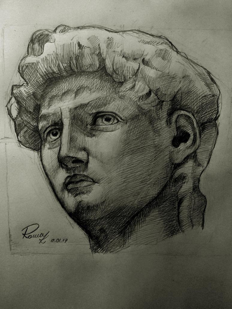 David's Head by Kriscorpion