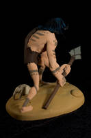 The Caveman - painted07 by clarkartist