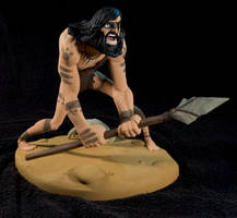The Caveman - painted09 by clarkartist