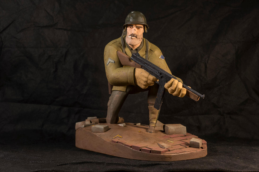The Soldier 08 (painted) by clarkartist