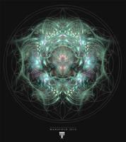 Flower Of Life Mandala T-shirt Design by ManafoldArt