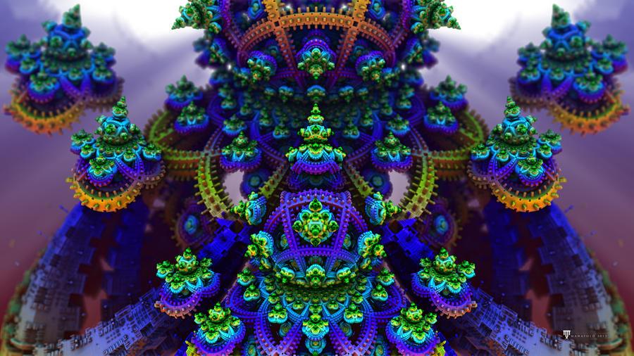Cosmic Fantasy Fractal Blacklight: ManafoldArt