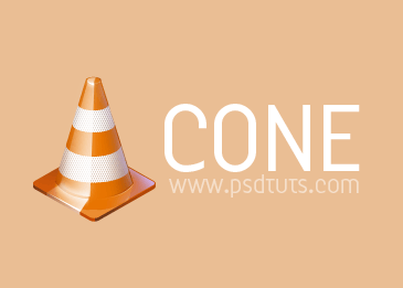 Orange cone icon tutorial by upiir