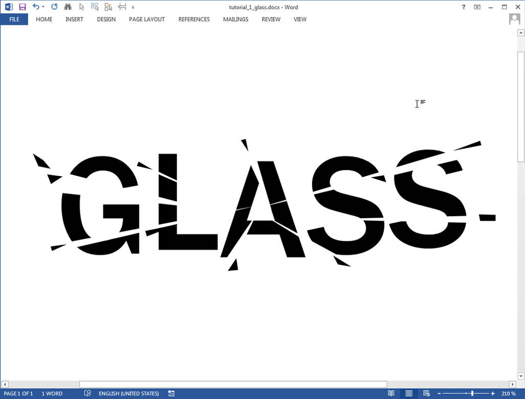 Glass text effect in Microsoft Word by upiir on DeviantArt