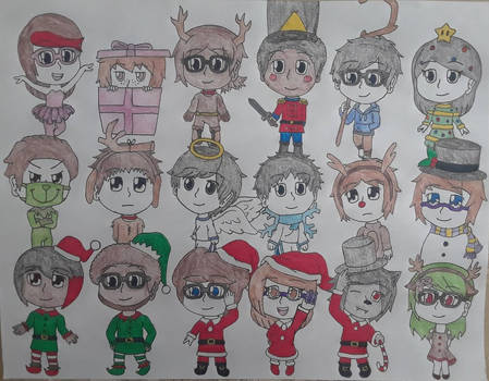 Christmas Chibi Group