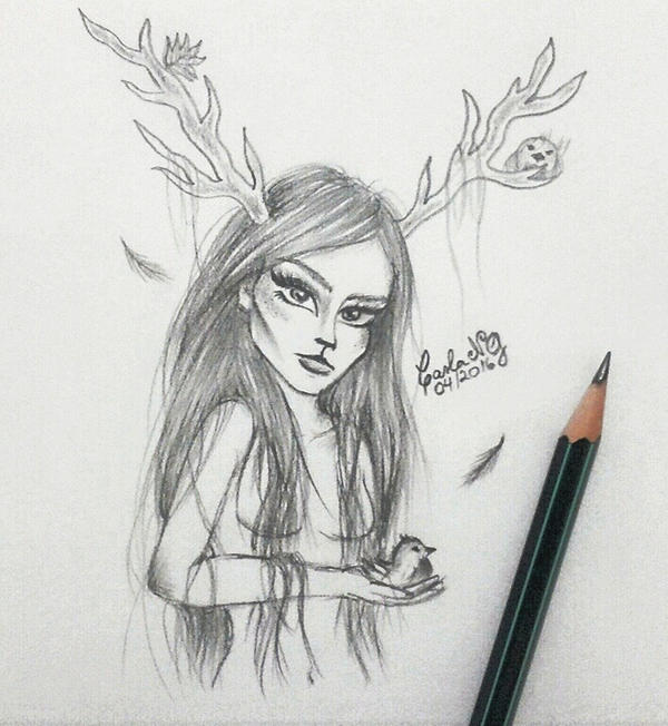 Deer Girl by carla-ng