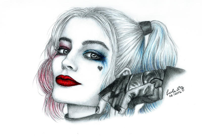Harley Quinn Drawing: Lipstick And Mocha: Suicide Squad (2016) + My Harley Quinn
