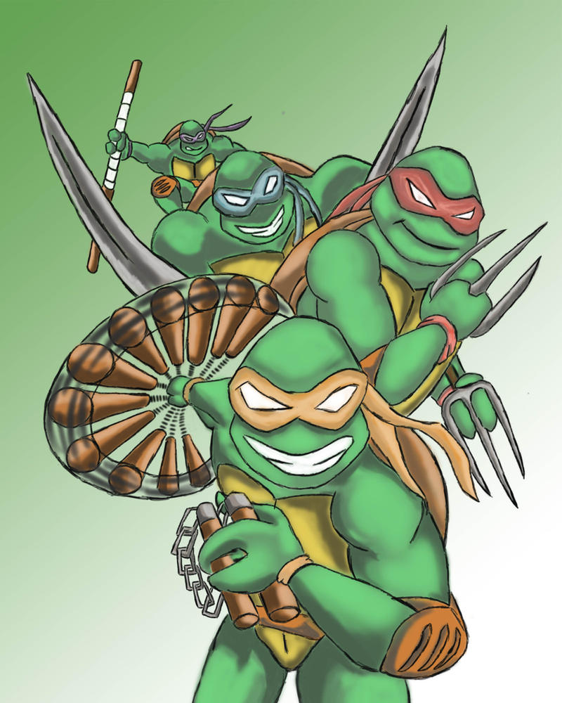Turtles Pin Up(02) by JasonJo