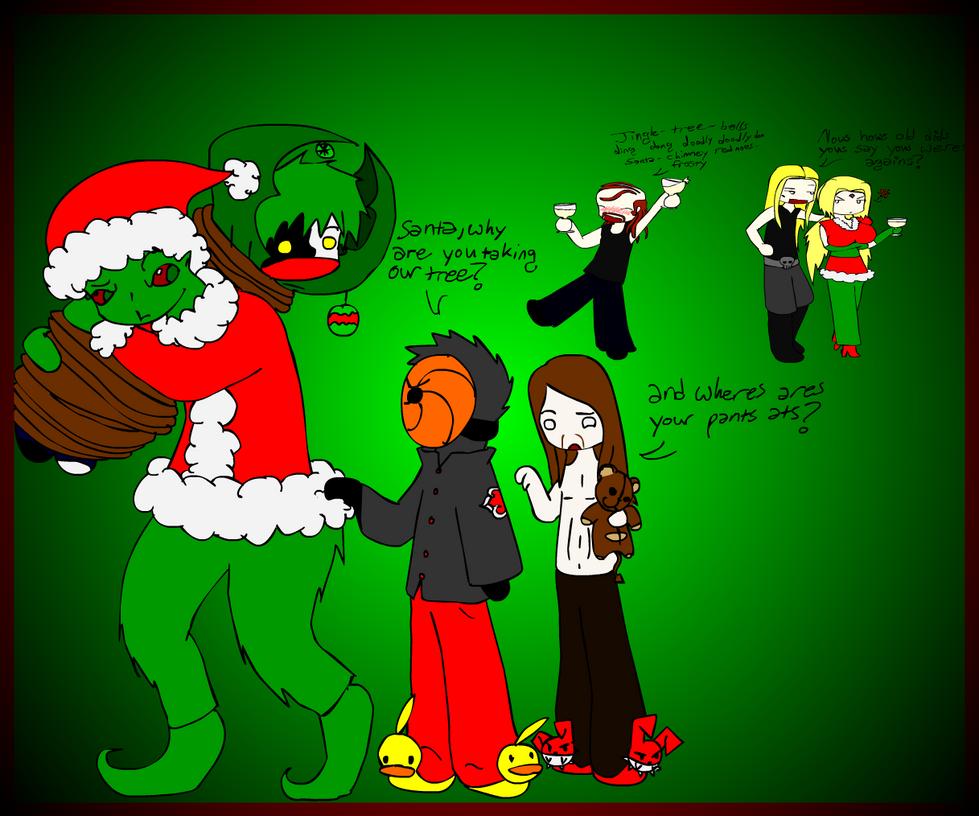 metalocalypse naruto christmas by nikistix - Metalocalypse Christmas Tree