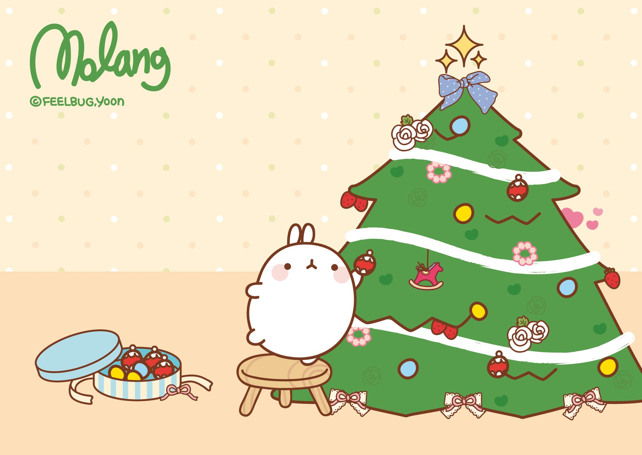 Wallpaper Navidad Molang by leyfzalley on DeviantArt