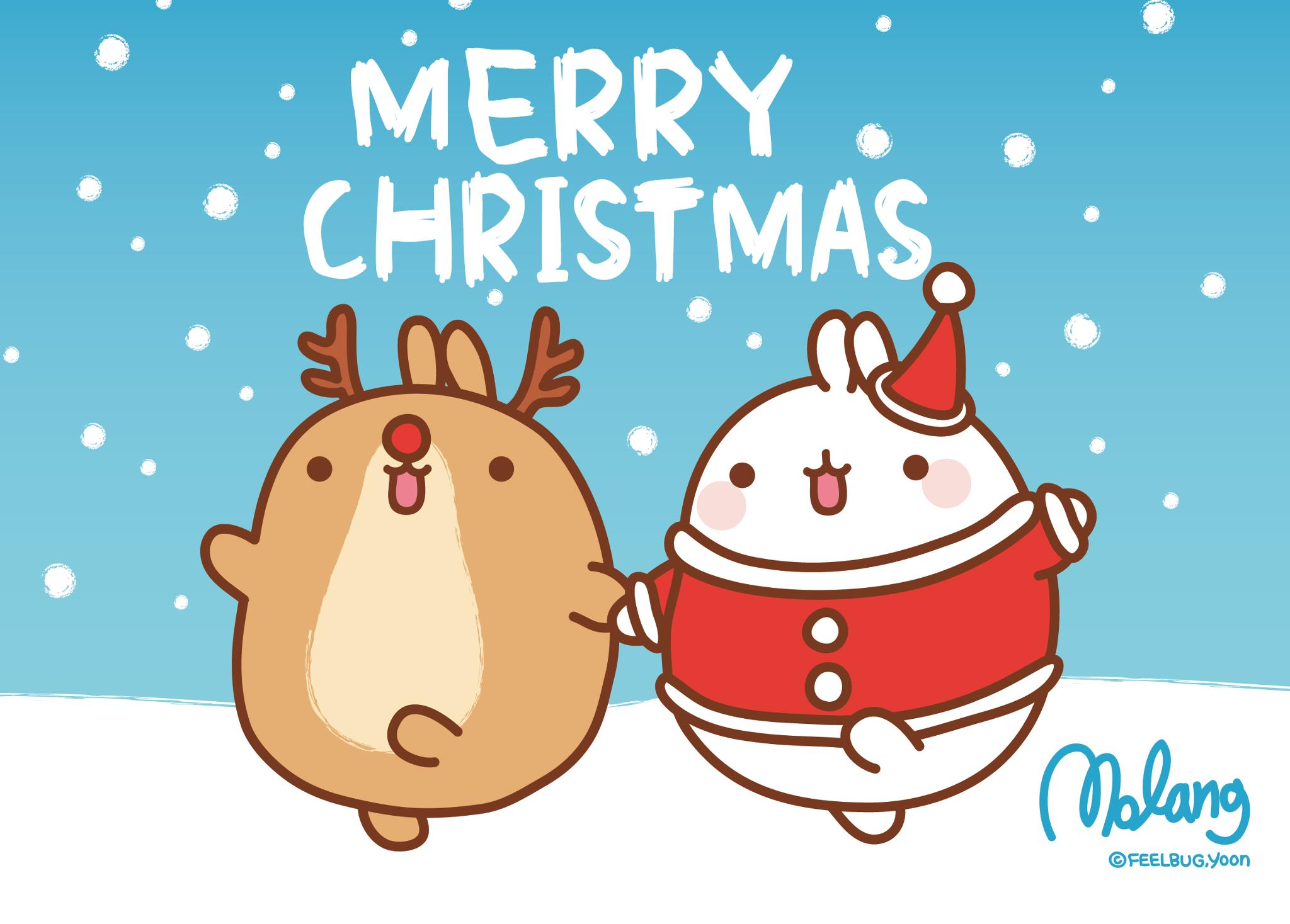 Cute Christmas Reindeer Wallpaper