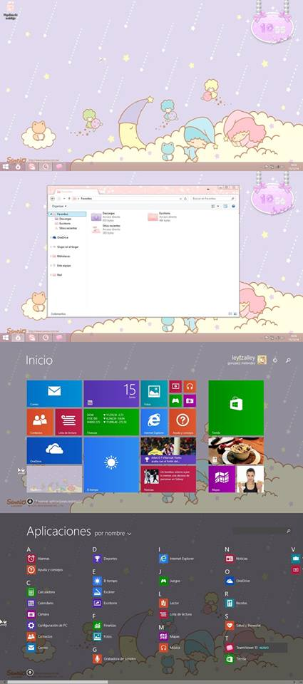 Desktop Windows 8.1 by leyfzalley