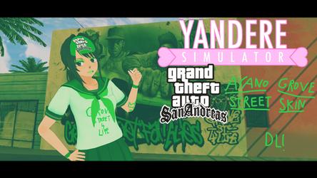 YandereSimulatorskin - Ayano's Grove Street outfit by MlpRarityFan443
