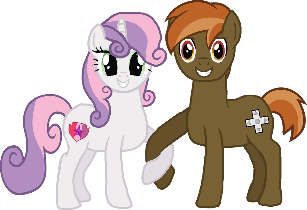 Grown Up Sweetie Belle And Button Mash By Crisostomo Ibarra