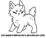 Puppy Lineart READ THE RULES!!