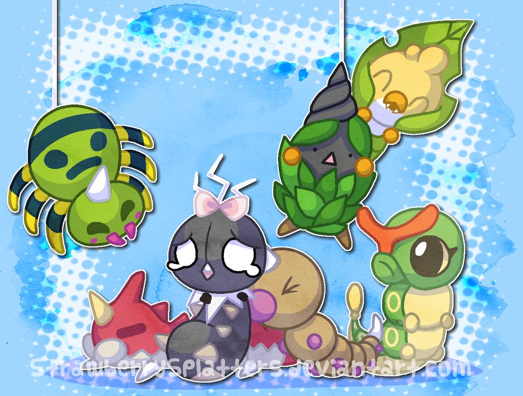 Bug Pokemon by StrawberrySplatters
