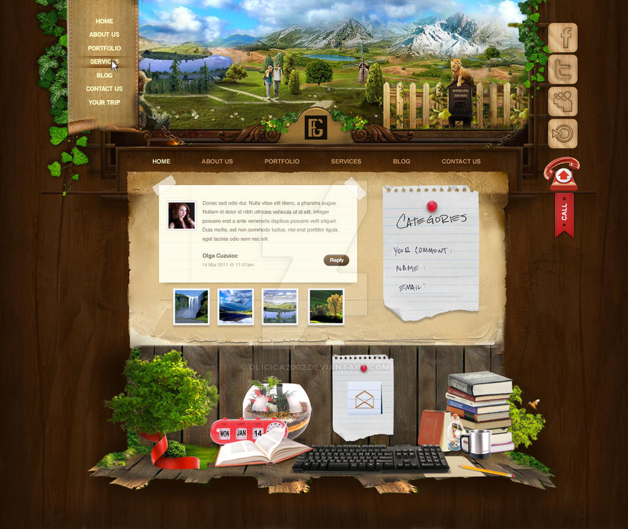 2011 Web design concept