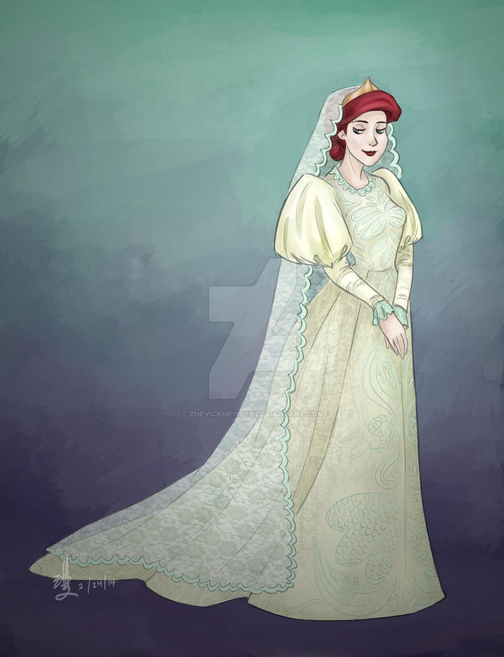 Wedding dress ariel by zhevickmeister for Disney mermaid wedding dress
