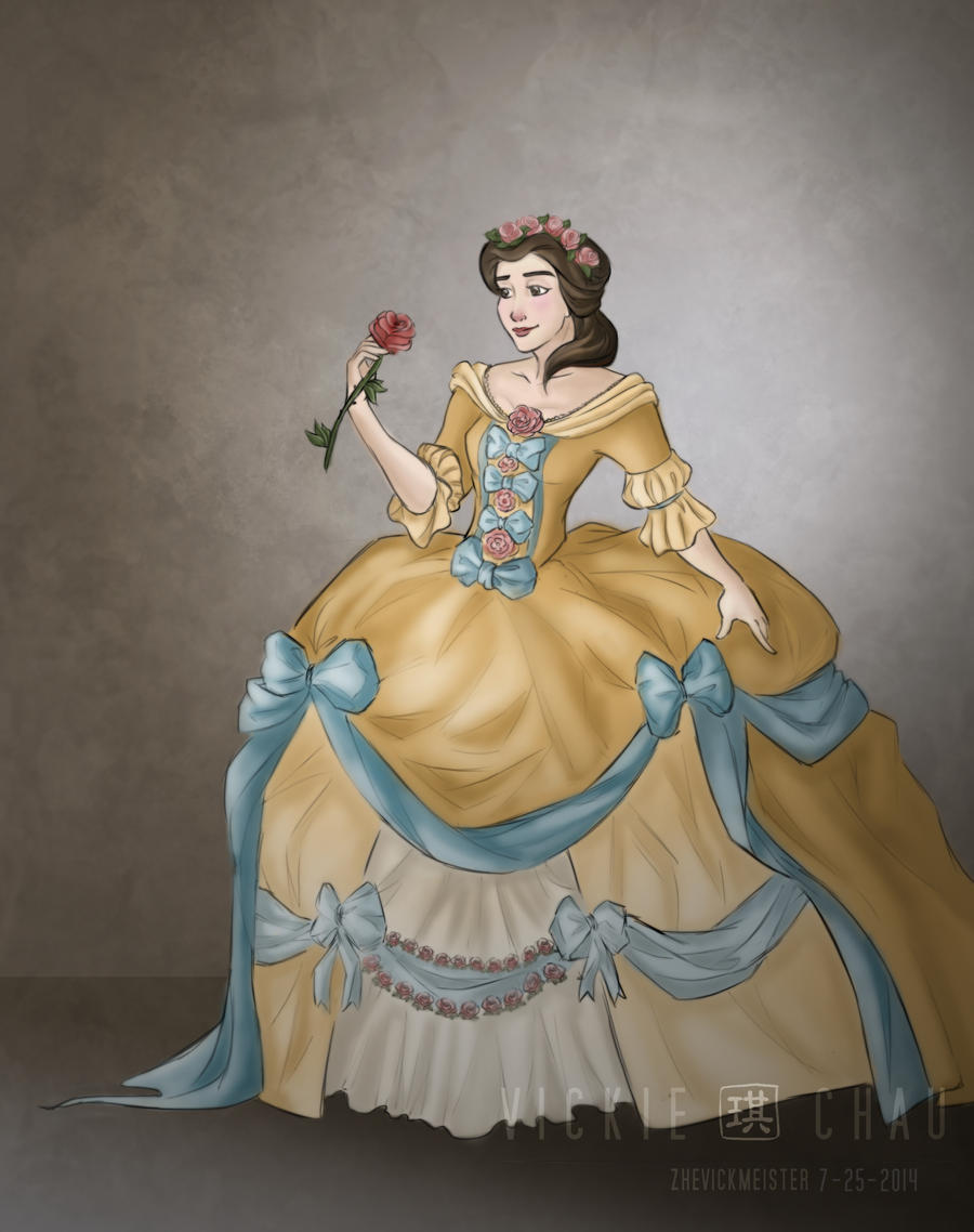 Wedding Dress: Belle by ZheVickmeister on DeviantArt
