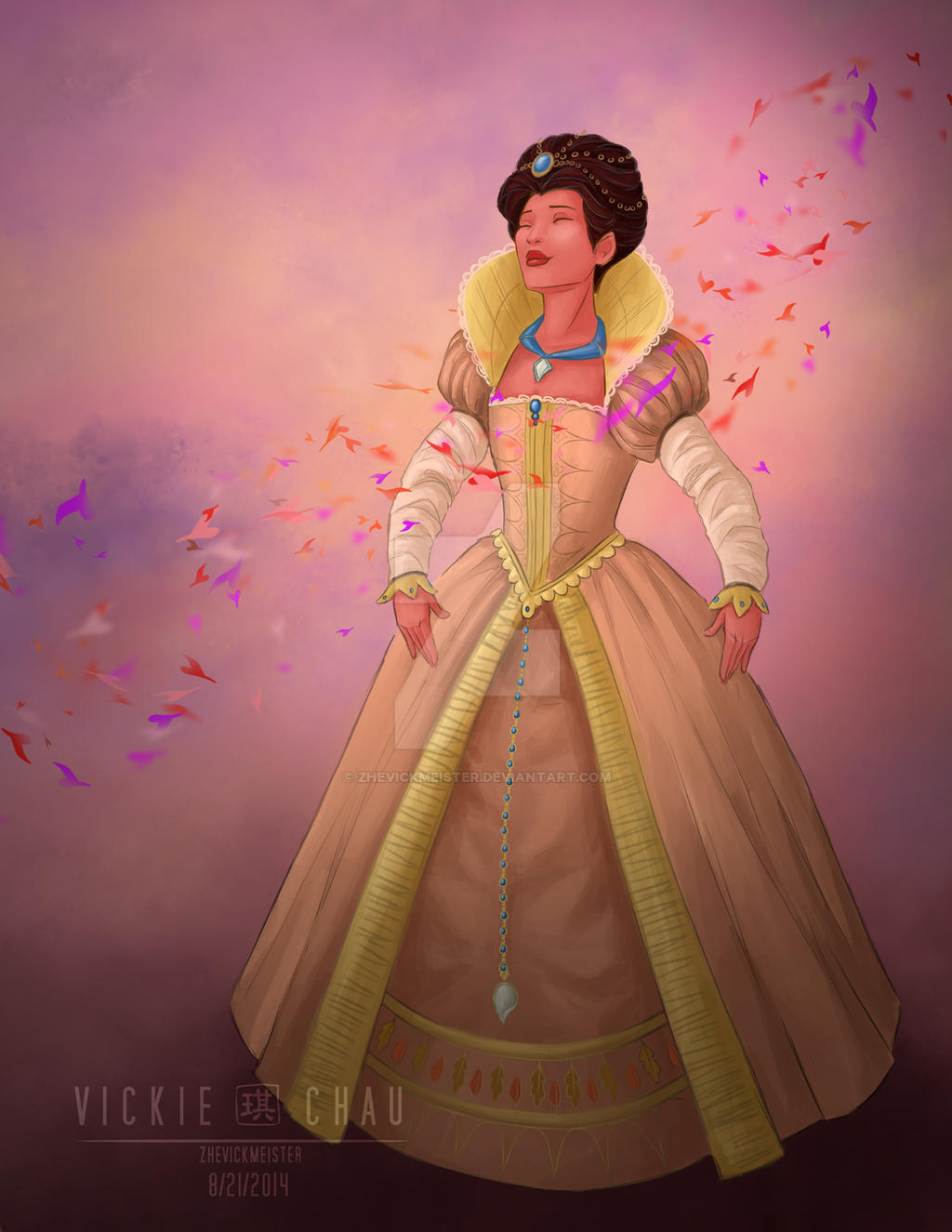 Wedding Dress: Pocahontas by ZheVickmeister
