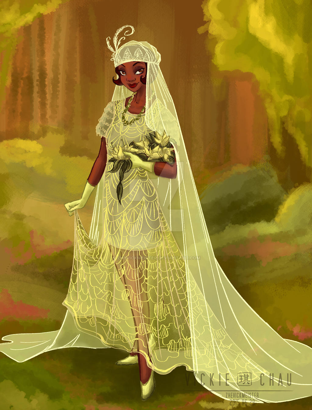 Wedding dress tiana by zhevickmeister on deviantart for Princess tiana wedding dress
