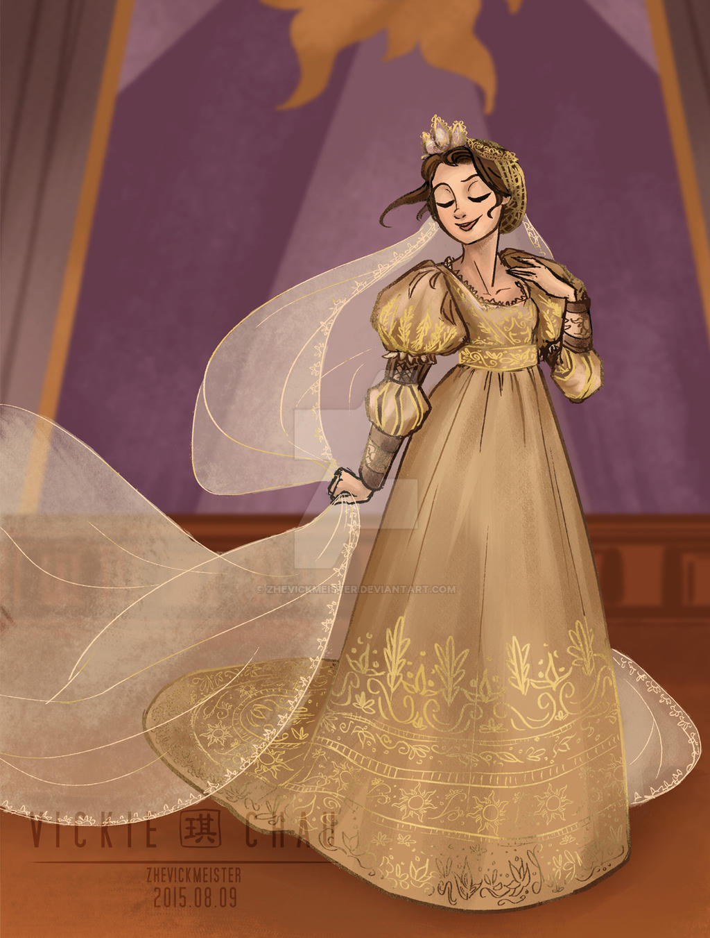Wedding dress rapunzel by zhevickmeister on deviantart for Places to donate wedding dresses
