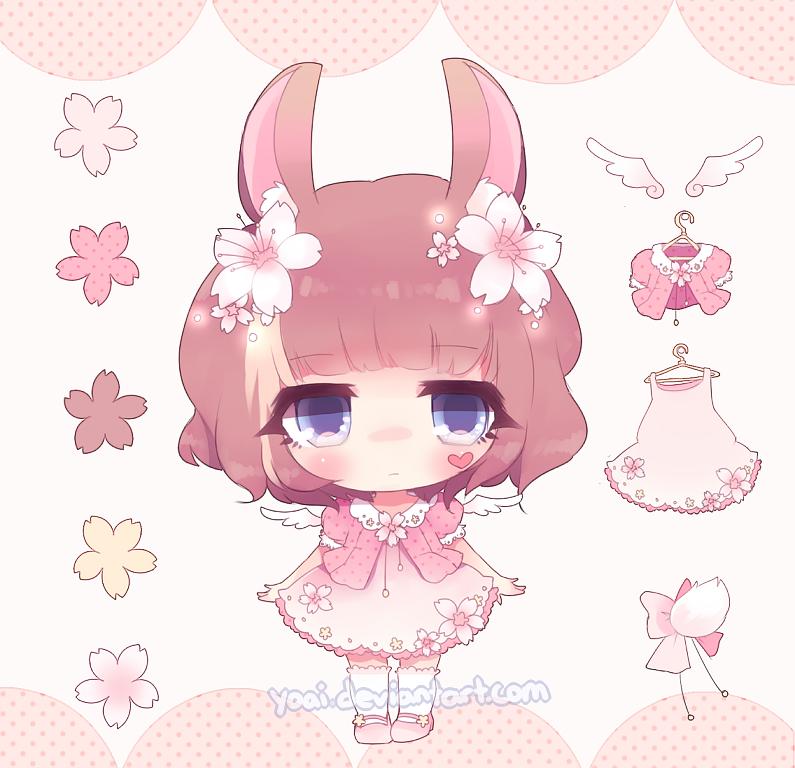 Cherry Blossom Bunny Adopt [open] by Yoai