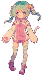 kitty hoodie by Yoai