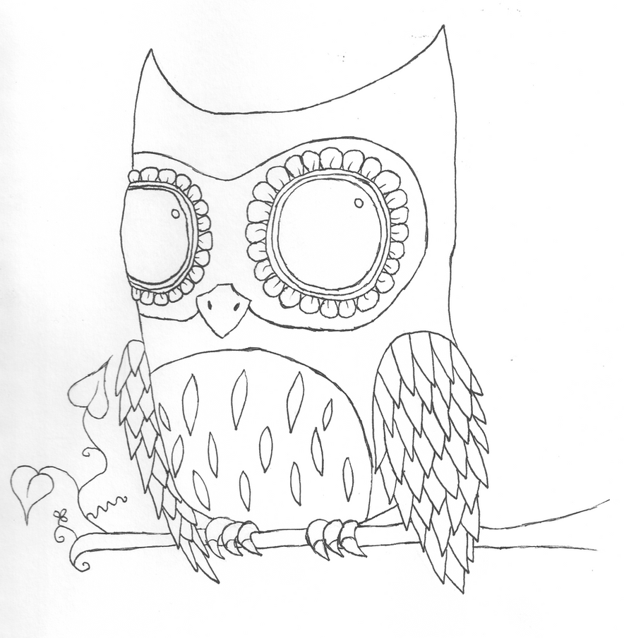 Line Art Owl : Owl lineart by quiliny on deviantart